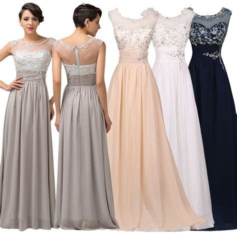 ? Dress Wedding Long Bridesmaid Prom Party Evening Gown