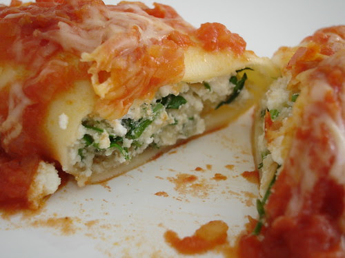 Herb ricotta cannelloni