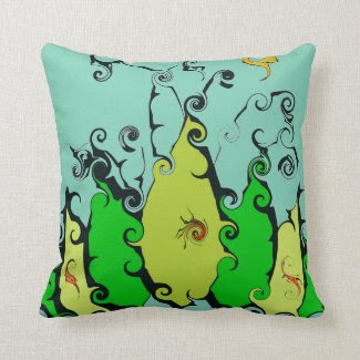 Crazy Leaf Throw Pillow