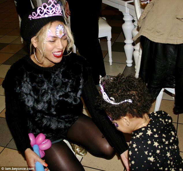 Birthday girl: Blue Ivy celebrated her second birthday with a princess themed bash and a day at a wildlife park