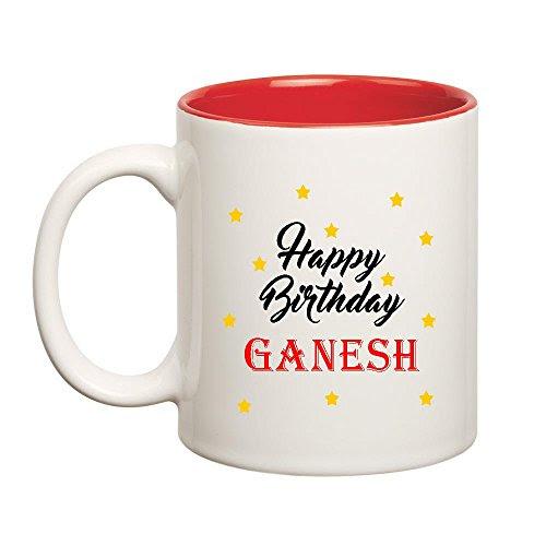 Huppme 8903522546259 Happy Birthday Ganesh Ceramic Best