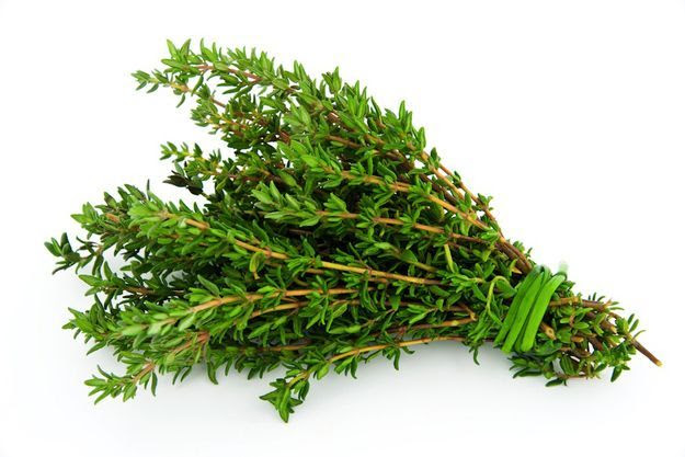 Treat oily herbs differently. - thyme can be tied loosely together and hung in open air.