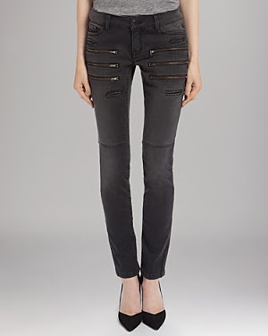 Maje Slim Denim with Zipper Detail Jeans