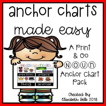 nouns anchor charts  easy  elisabeth delk tpt