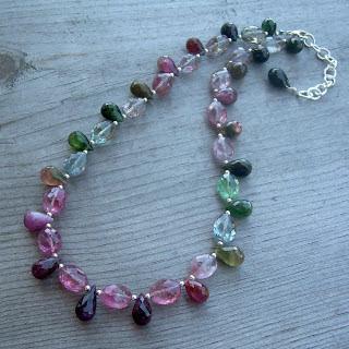beautiful tourmaline necklace