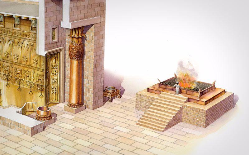 Finalizan construcción del altar para el Tercer Templo