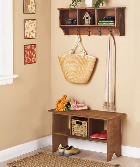 Entryway Storage Bench And Wall Cubbies | House Design
