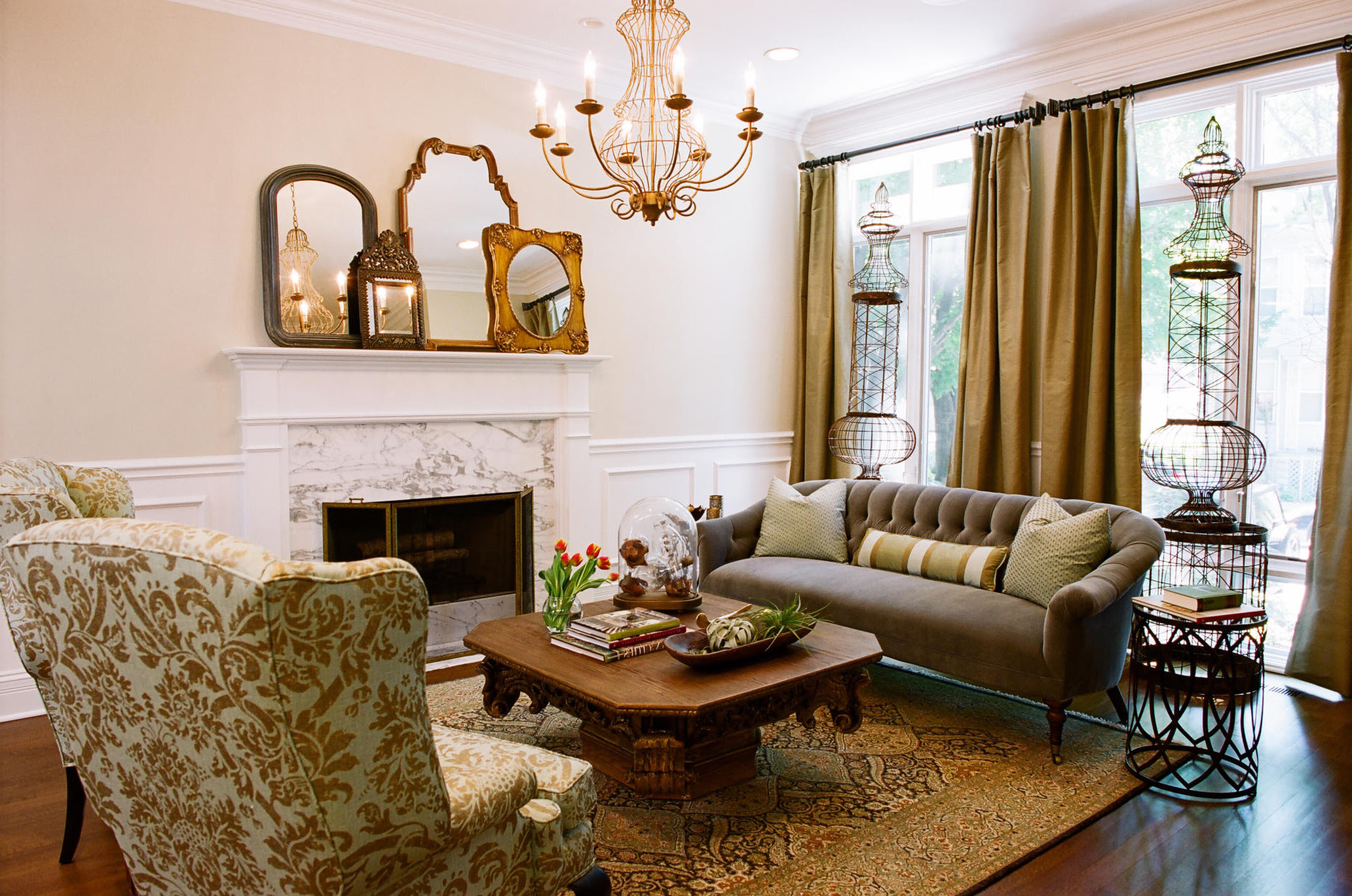 Traditional Country side Theme For Living Room
