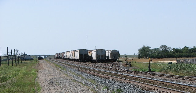 Train Yard at Belle Plaine, Saskatchewan