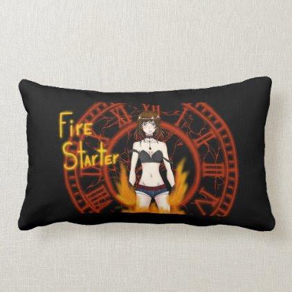 Fire Starter Lumbar Pillow