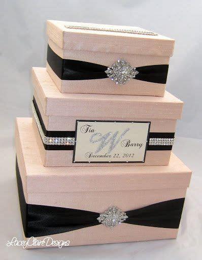 Wedding Gift Box, Bling Card Box, Blush Pink Wedding Box