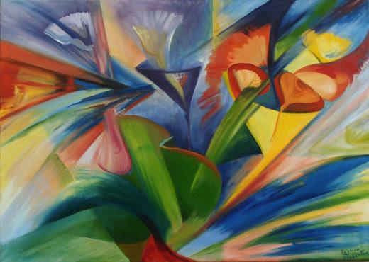 Cuadros Modernos Abstractos Pintados Al Oleo