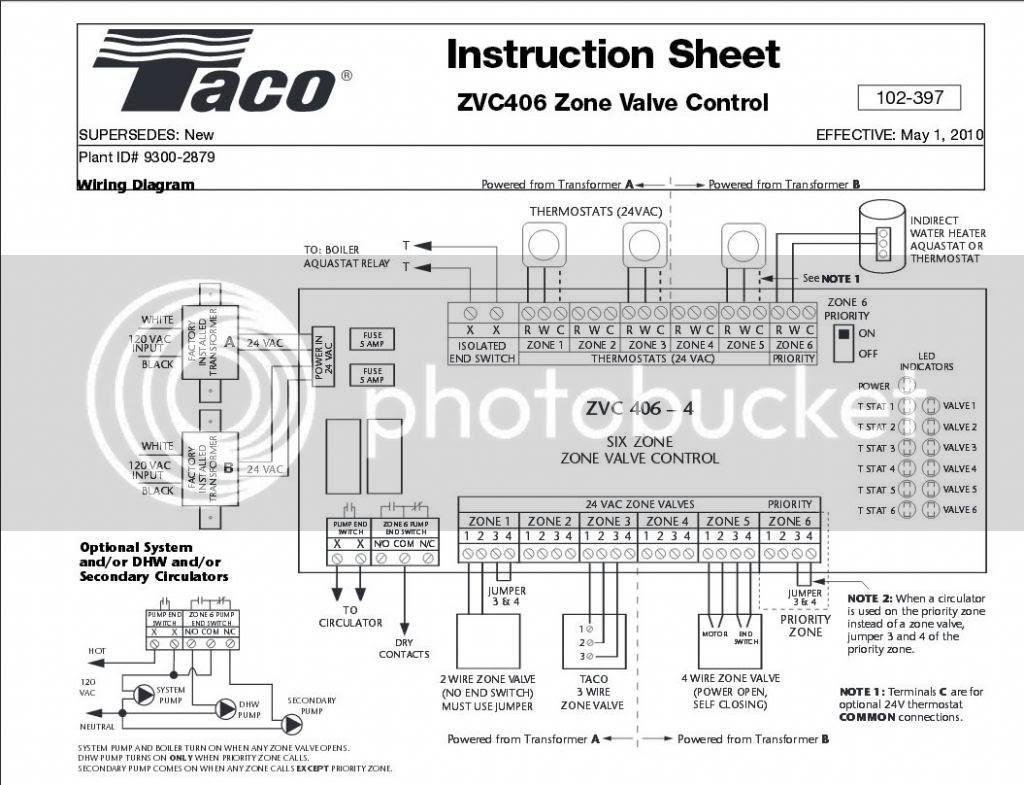Diagram Taco Zone Valve Wiring Diagram 6 Full Version Hd Quality Diagram 6 Schematicad2e Angelux It