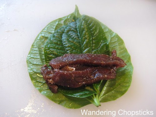 Bo Nuong La Lot (Vietnamese Grilled Beef with Wild Betel Leaf) 4