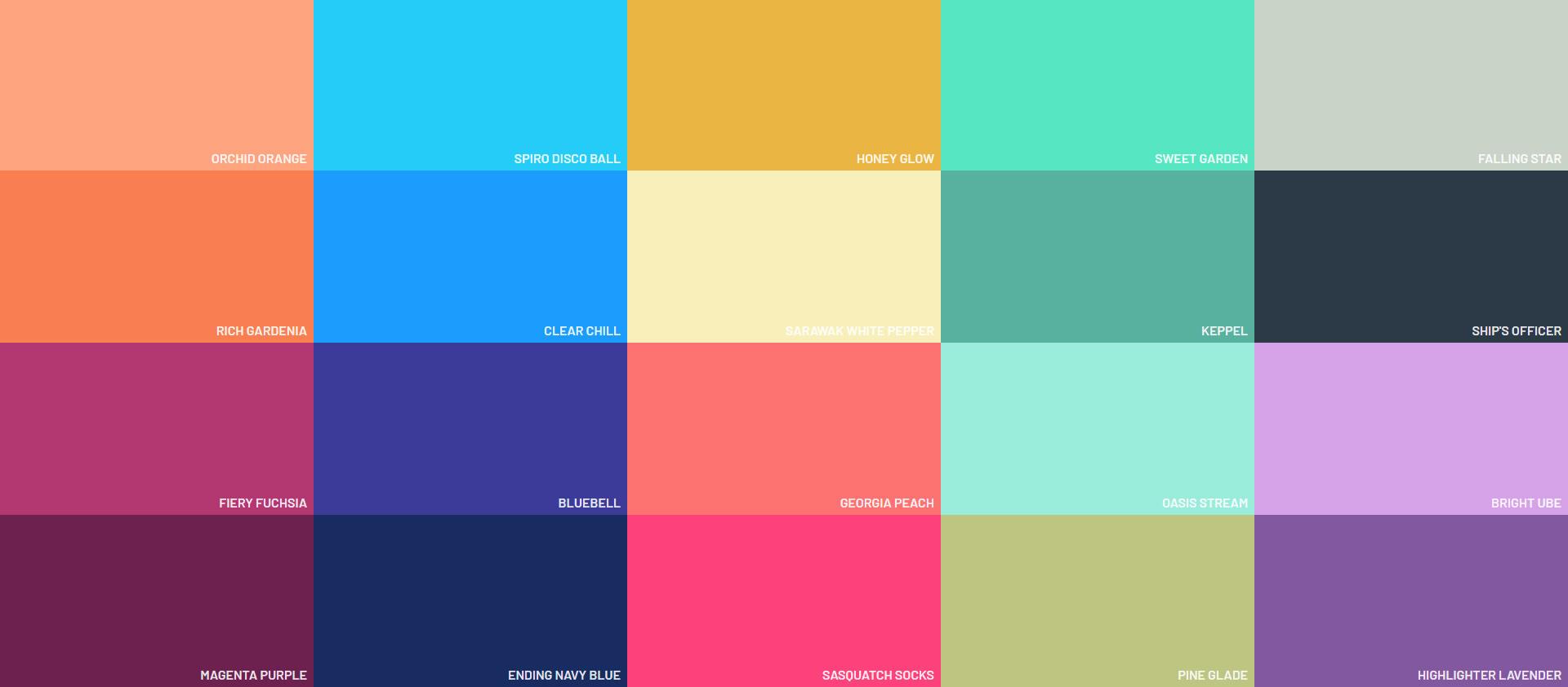 Flat UI Colors - Material Design Color - siam.naulak