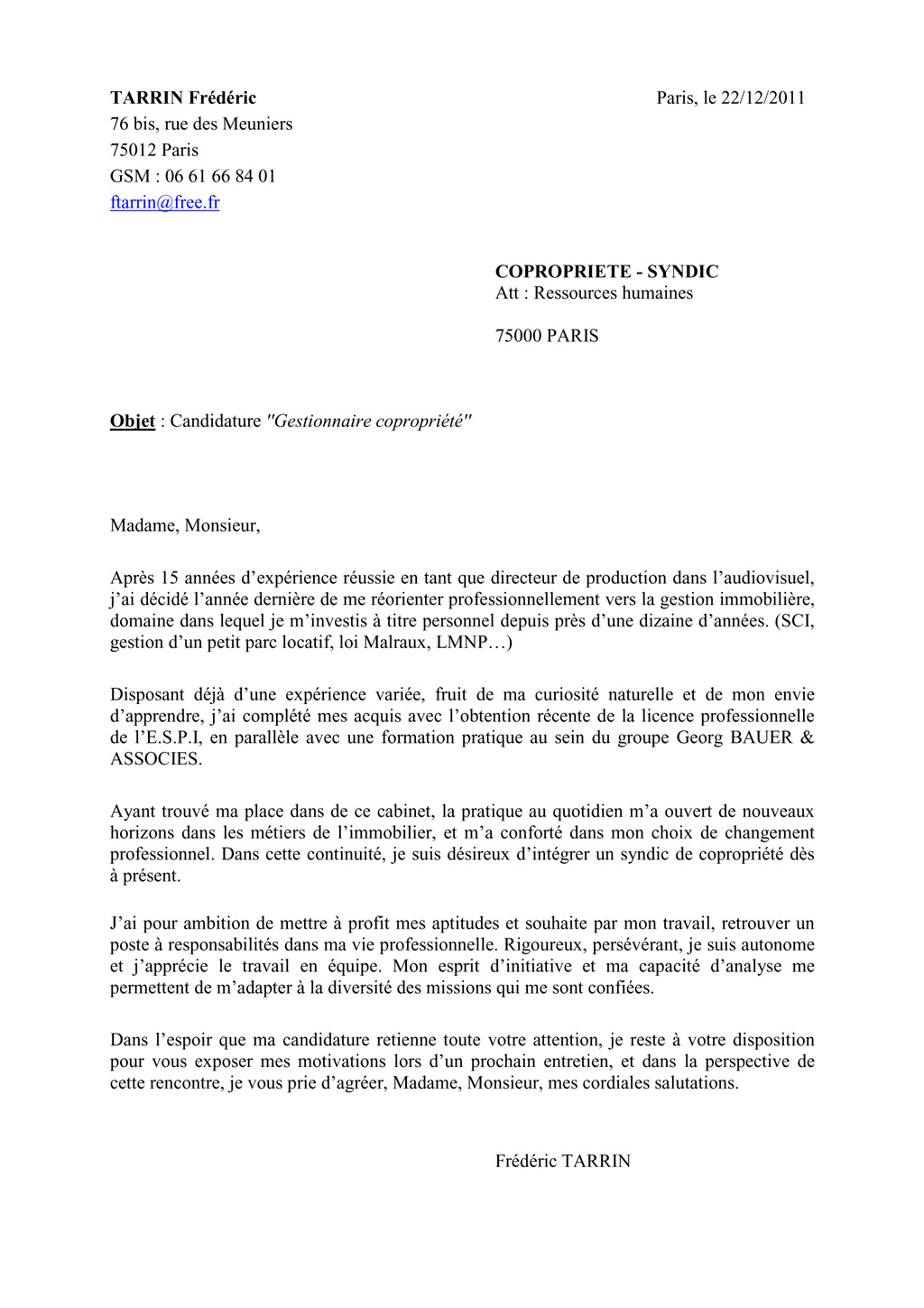 lettre de motivation contrat de professionnalisation