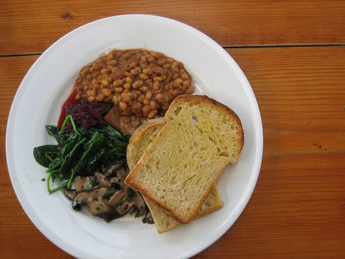 big vegan brekkie at ceres