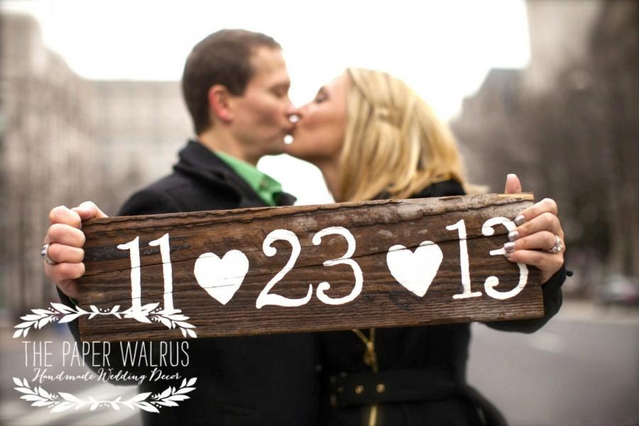 Engagement signs Just engaged photo booth signs Save The Date Signs Personalized Save The Date photo props