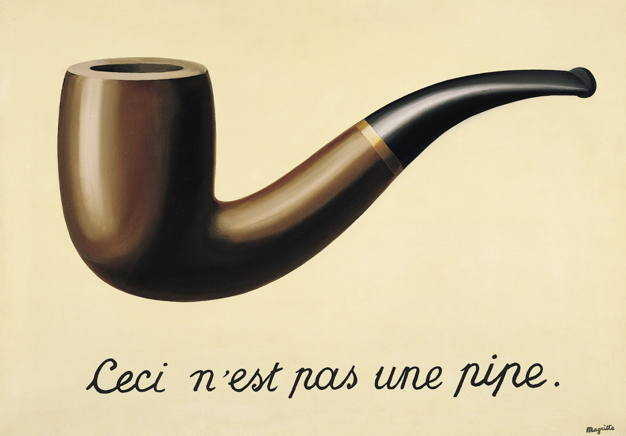 The treachery of images (This is not a pipe), 1948 Rene Magritte