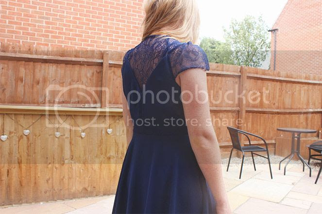 lace navy mini bridesmaid dress