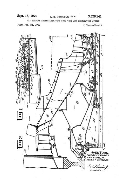 Patent US3528241 - Gas turbine engine lubricant sump vent