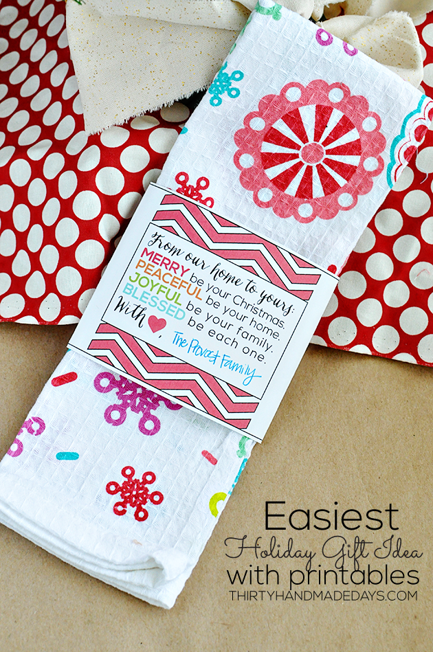 The easiest holiday gift idea ever with printables from www.thirtyhandmadedays.com