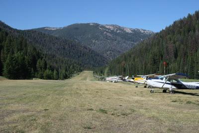 Big Creek Airstrip looking north
