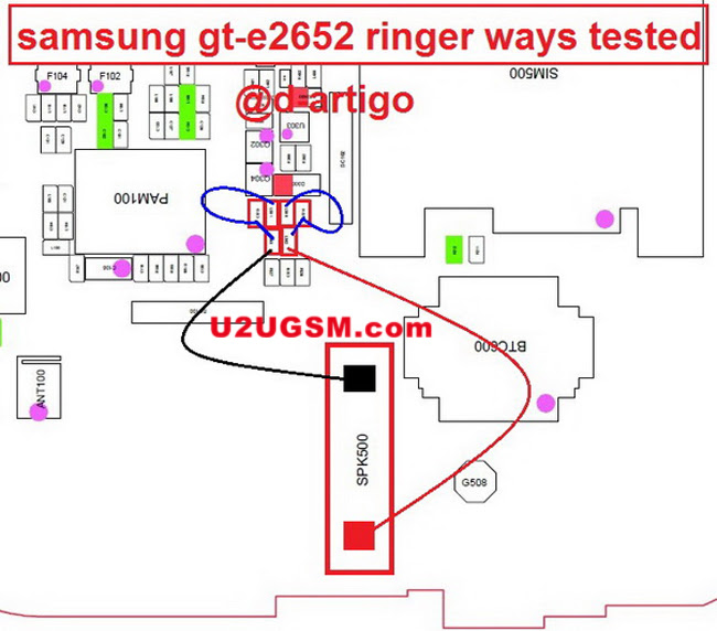 samsung e2652 ringer speaker not working problem solution