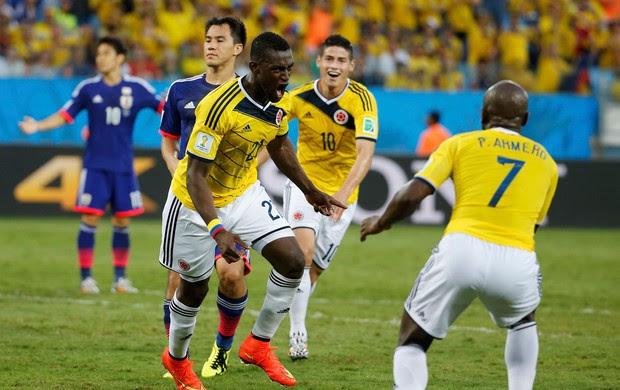 Martinez gol Colômbia x Japão (Foto: Reuters)