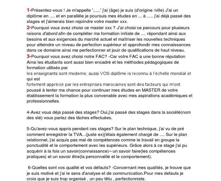 Exemple De Presentation Dans Un Entretien Je Mappelle Pdf ...