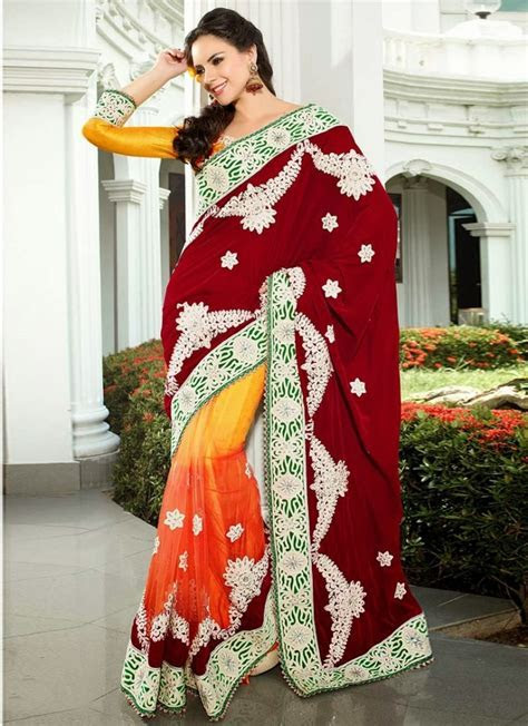 Indian Bridal Saree 2017 2018 Designs for Indian Dulhans