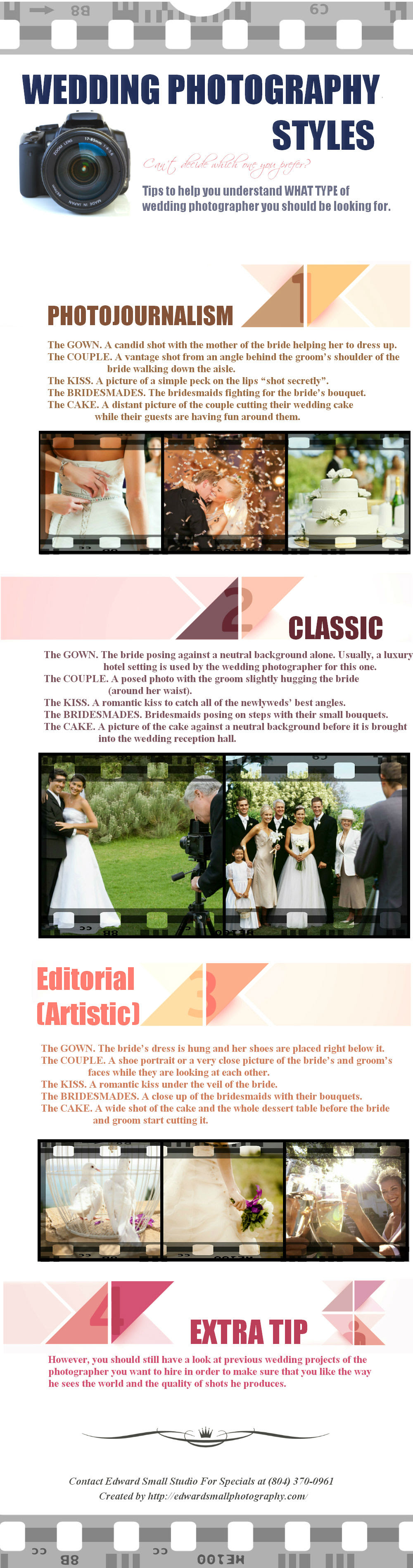 Infographic: Wedding Photography Styles