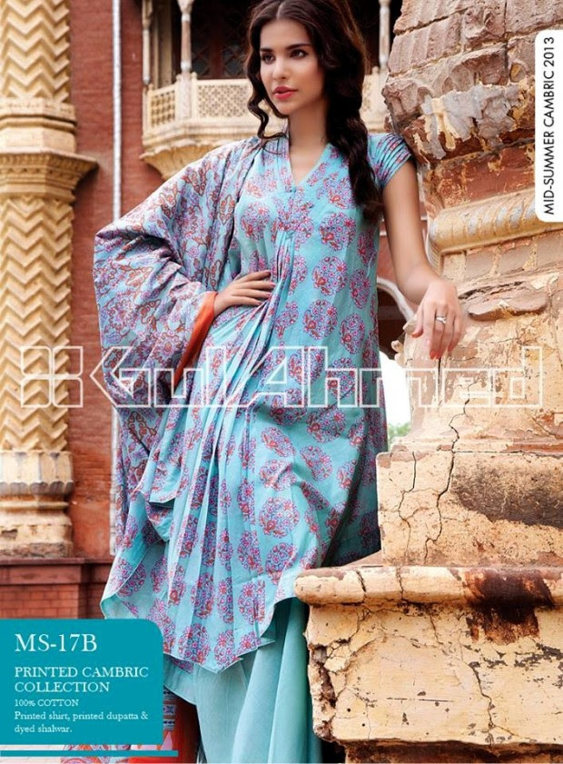 Mid-Summer-Cambric-Collection-2013-Gul-Ahmed-Printed-Embroidered-Fashionable-Dress-for-Girls-Women-6