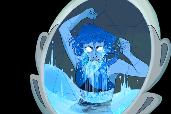 Another commission, this time of Lapis trapped in the mirror! Poor Lapis, I really owe her a happy picture now! ; u ; Check out my Commission Info!