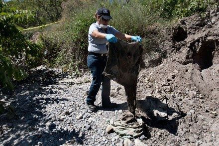 En busca de los normalistas desaparecidos en Zumpango, Guerrero. Foto: Germán Canseco