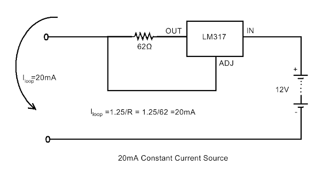 How to Make a Constant Current Source using LM317