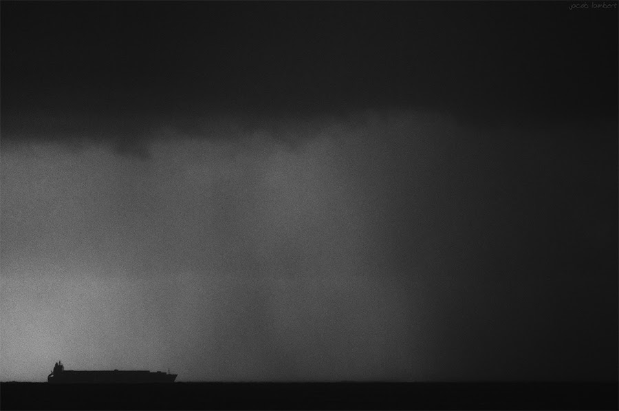 storm attacks boat