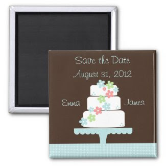 Sweet Cake Save the Date Magnet