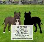 Pitbull Yard Art Woodworking Pattern - fee plans from WoodworkersWorkshop® Online Store - pitbulls,dogs,pets,animals,yard art,painting wood crafts,scrollsawing patterns,drawings,plywood,plywoodworking plans,woodworkers projects,workshop blueprints