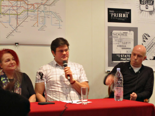 Pat Cadigan, Jonathan Oliver and Adam Nevill - End of Line Launch