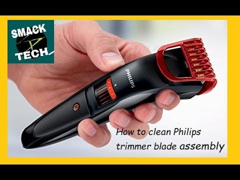 Philips Trimmer cleaning II How to open Blade Assembly