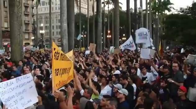 PROTESTOS HOJE CAMERAS AO VIVO NAS CIDADES - DIA 15/03/2015