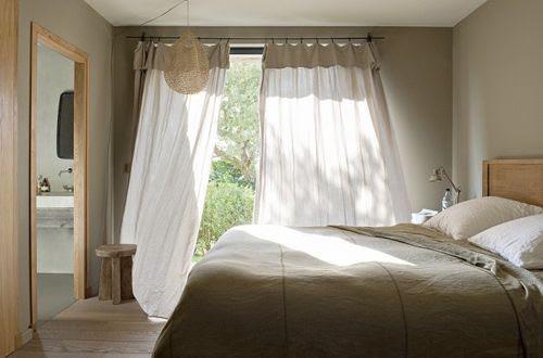 Dormitorio de La casa de la colina en Córcega