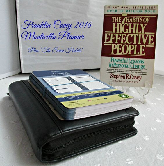 Franklin Covey Leather Day Planner Monticello 2016 Calendar & 7 ...