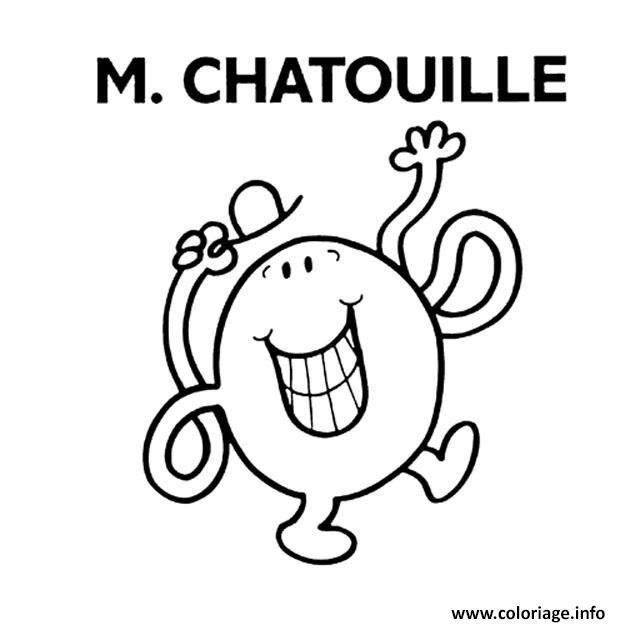 Coloriage Monsieur Madame M Chatouille Jecoloriecom