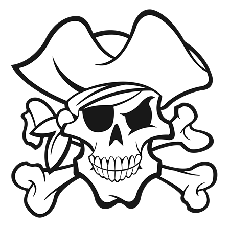 Coloriage Tete De Mort Pirate à Imprimer Sur Coloriages Info