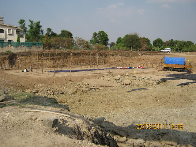 Preparation of Bhoomi Poojan of DSK Gandhakosh Baner Pune