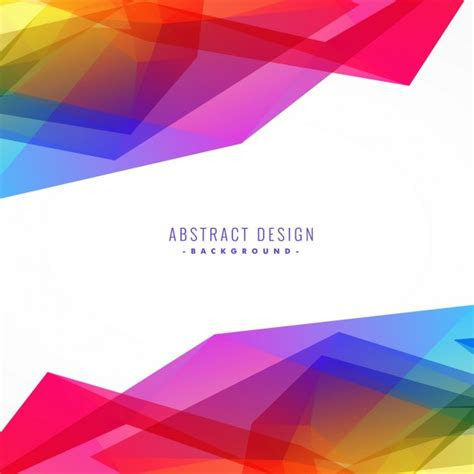 full color background  polygonal shapes vector