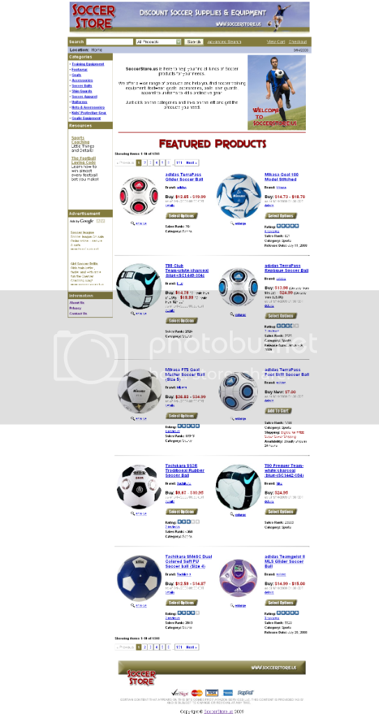 soccer store,template design, associate 0 matic, associateomatic