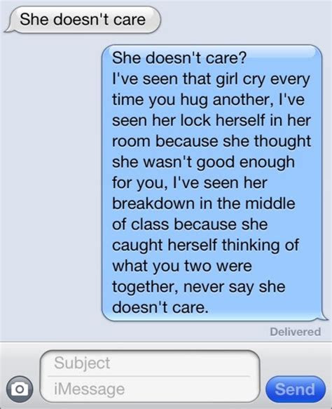She Doesnt Care About Me Quotes